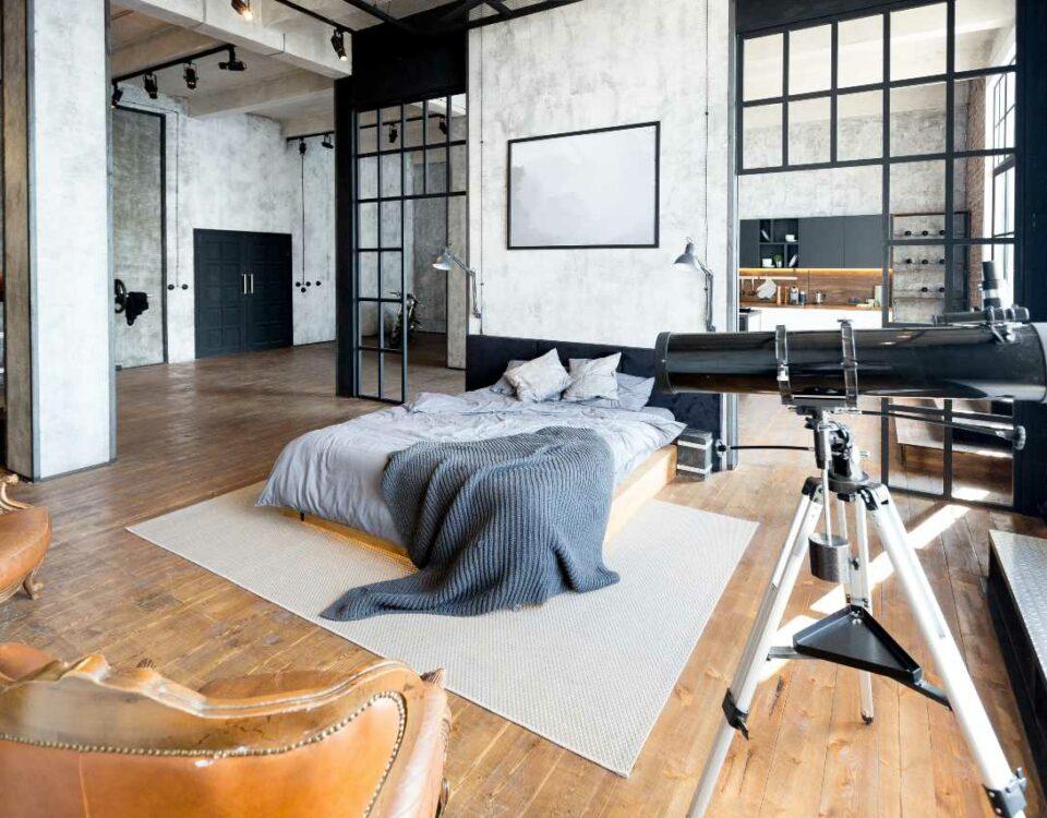 Salon w tylu loft
